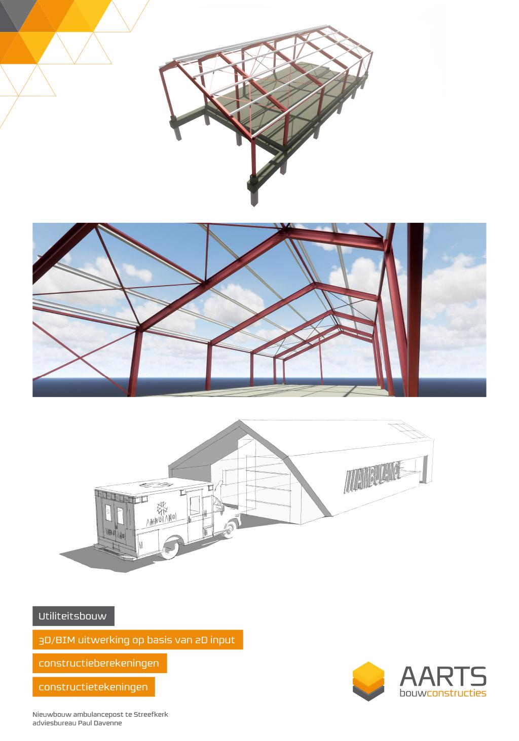 Ambulancepost Streefkerk - 3D BIM uitwerking op basis van 2D input