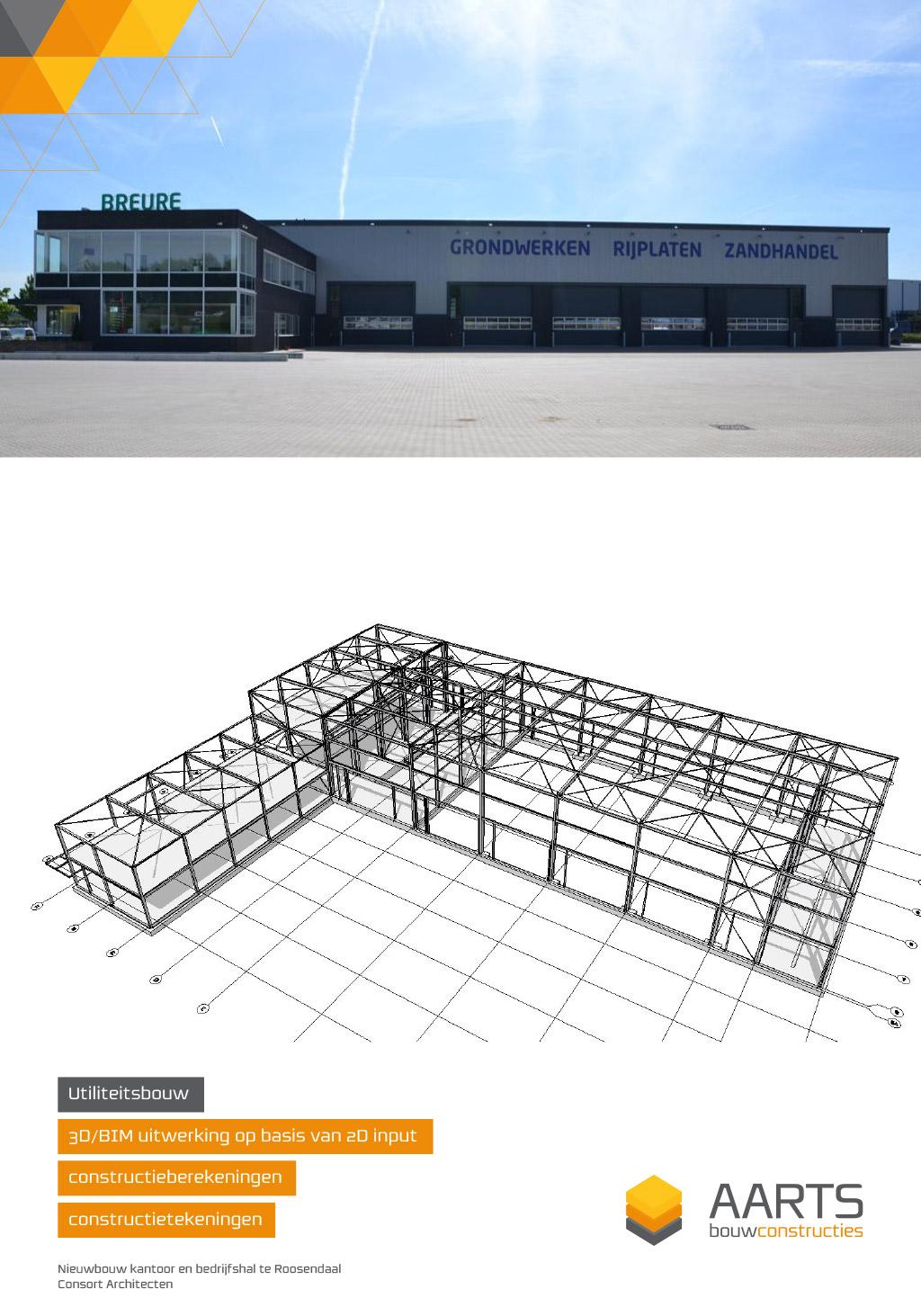 Breure grondwerken - 3D BIM uitwerking op basis van 2D input