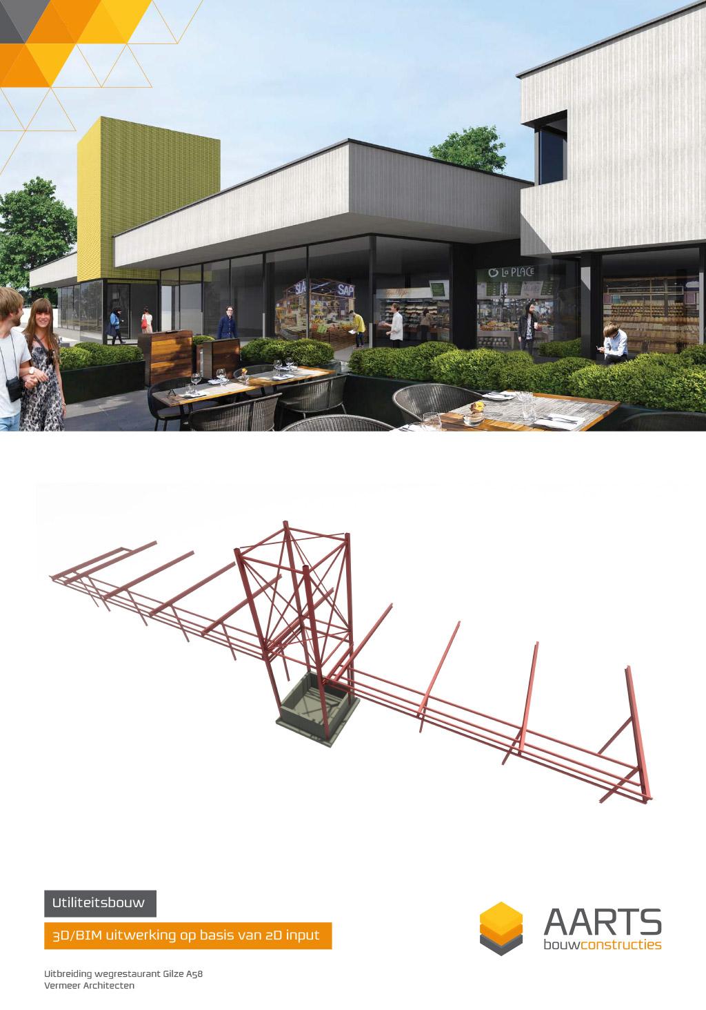 Wegrestaurant Gilze - 3D BIM uitwerking op basis van 2D input