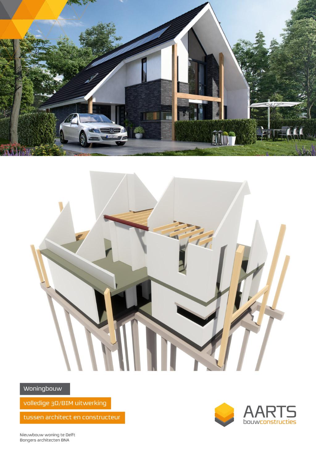 Woning - 3D BIM uitwerking op basis van 2D input